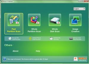 select scan mode in Renee Undeleter