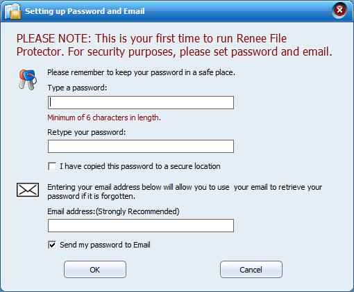 set master password for renee file protector