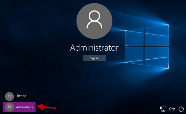 built-in administrator account