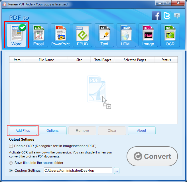 SmartSoft PDF to Word Converter Free download for Windows 10 7 8