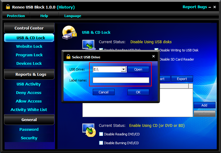 How to Enable & Disable USB Port with USB Port Lock Software