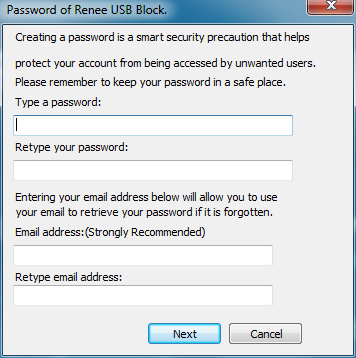 set master password for Renee usb block