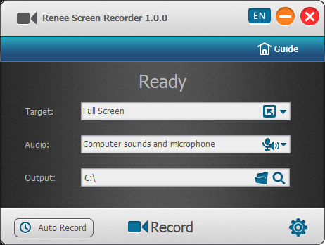 Screen recorder settings