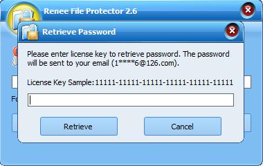 retrieve password for Renee File Protector2