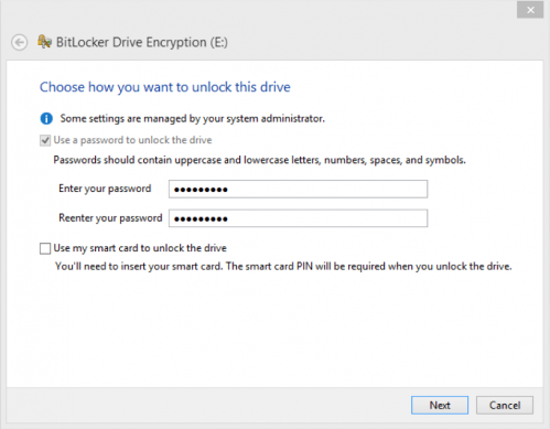 Use a Password to Unlock This Drive