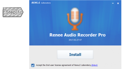 Installation of Renee Audio Recorder Pro