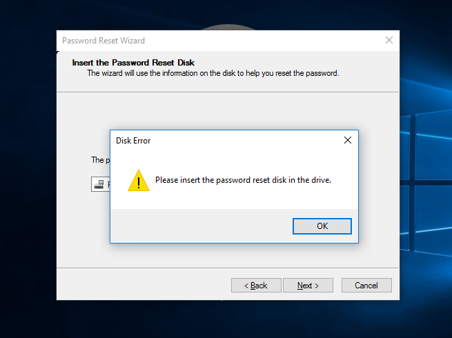 how to create windows 10 password reset disk