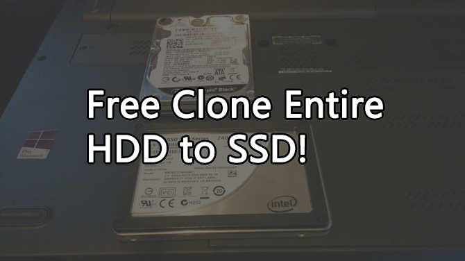 free clone entire HDD to SSD