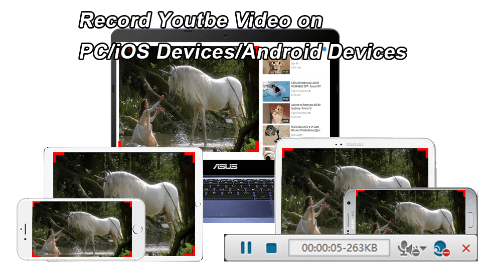 record youtube video on different devices