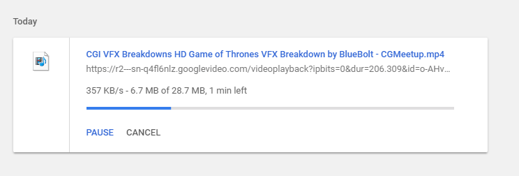 check the youtube video download status