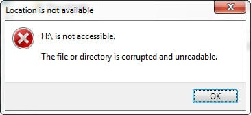 can't access a partition windows 14