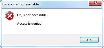 can not get access to usb disk