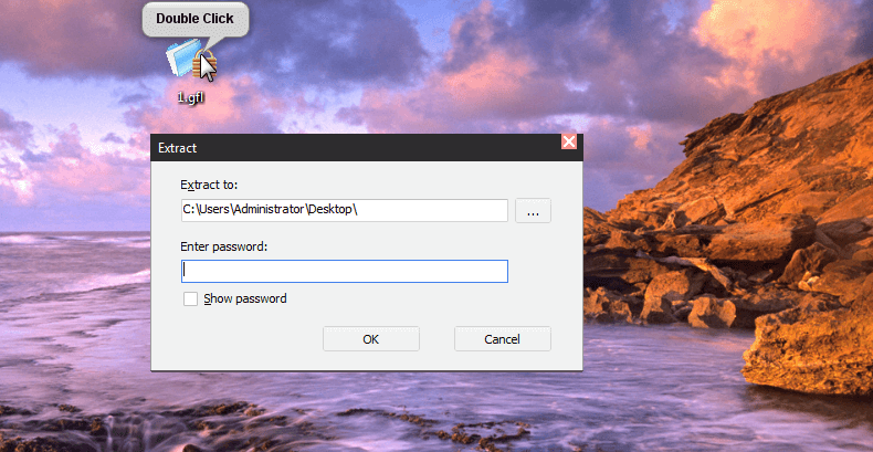 double click at the file and unlock the file