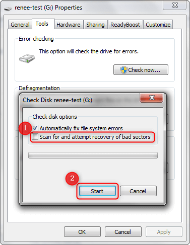 Detect and Repair Bad Sectors and Cylinder 0 Error of Hard Drive in