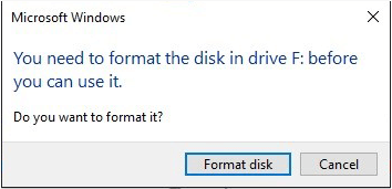 require to format the disk