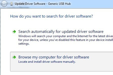 update usb driver automatically