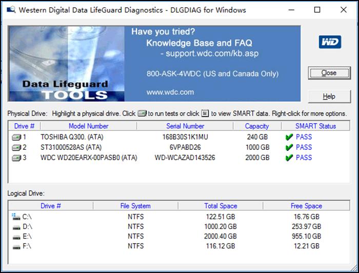 Data Lifeguard Diagnostic