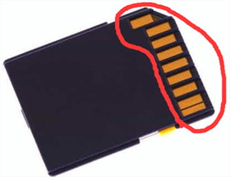 sd card connecting component