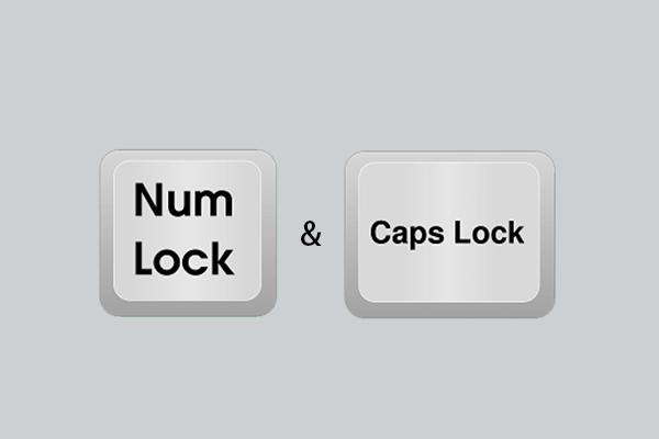 Check Caps Lock and Num Lock