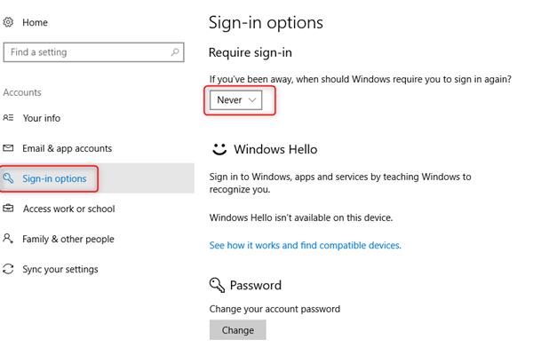 Windows 10 password incorrect