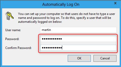verify the password