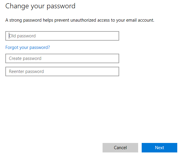 enter Microsoft account password