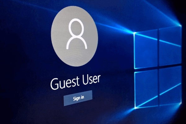 guest account in Windows 10