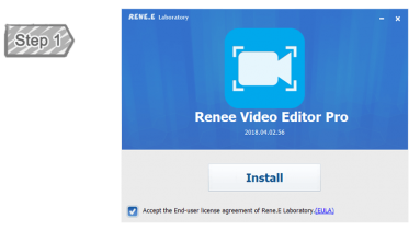 Install Renee Video Editor Pro