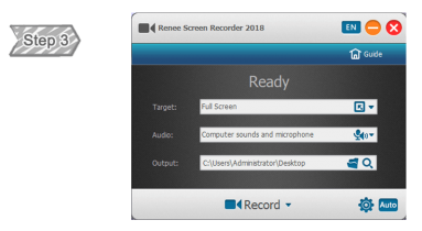 Screen Recording Function of Renee Video Editor Pro