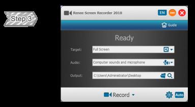 Screen Recording Function of Renee Video Editor Pro
