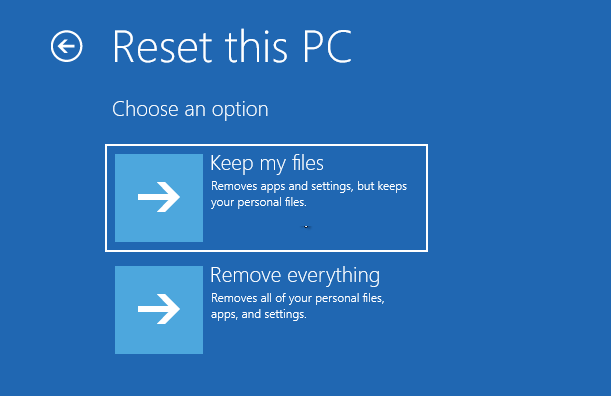 reset PC to remove everything