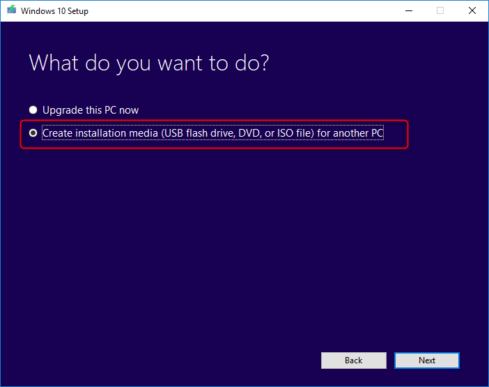 create media Windows 10