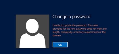 set password policy