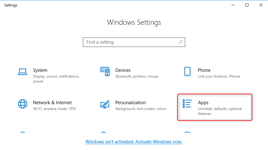 select apps to uninstall software