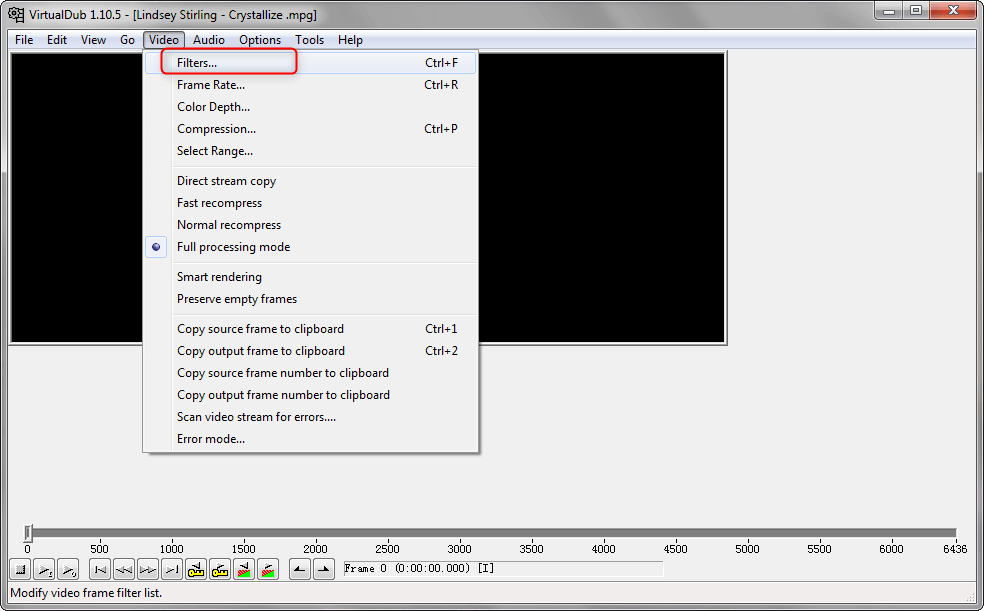select filter function