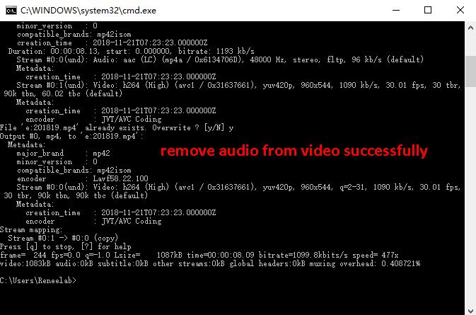 remove audio