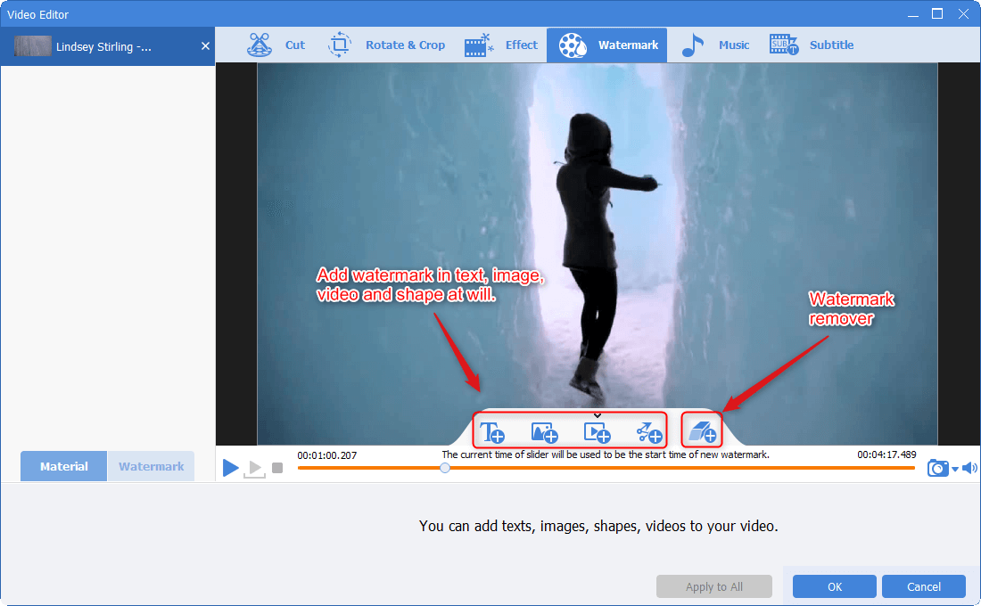add and remove watermark to video