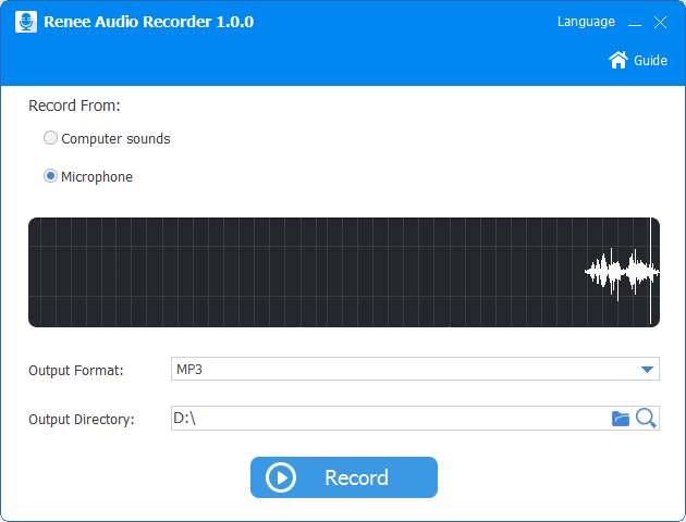 audio record function in audio tools