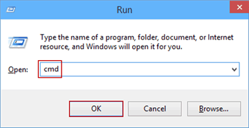 open command prompt by run