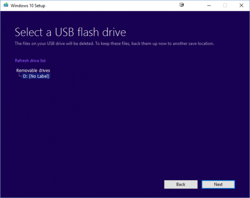 refresh the USB list