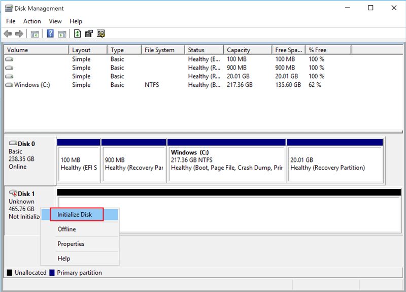 initialize a new SSD