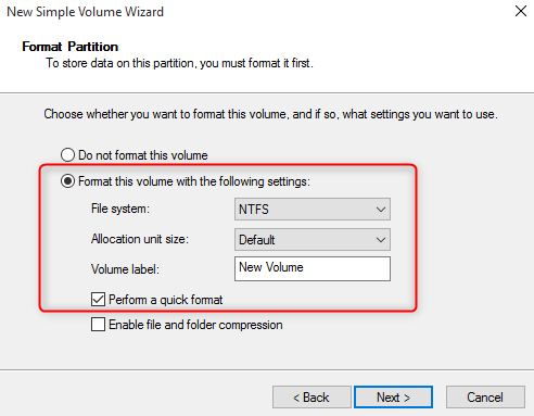 format a new SSD in Windows 7/10
