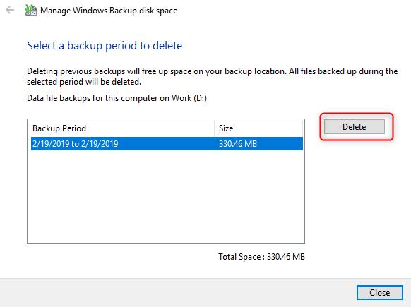 delete backup files