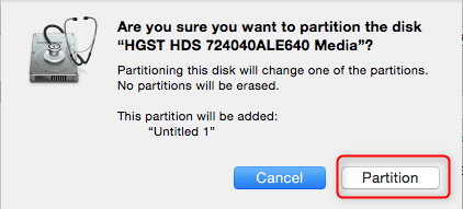 Partition a new SSD in macOS