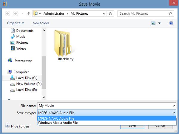 Save File Type