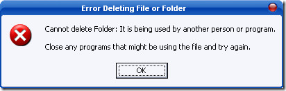 fail to delete file in use