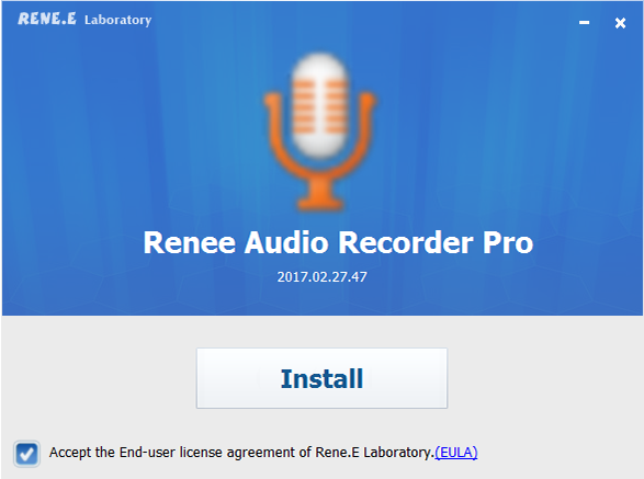 nstall renee audio recorder pro