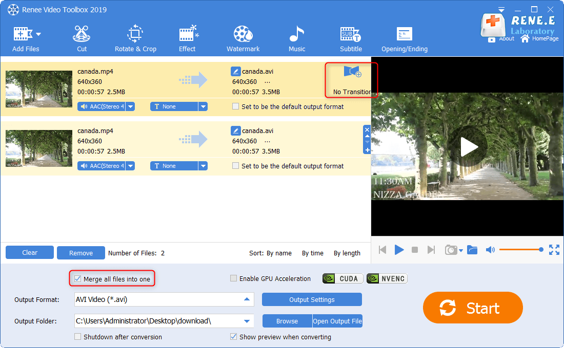 join the video files such as ts files into one
