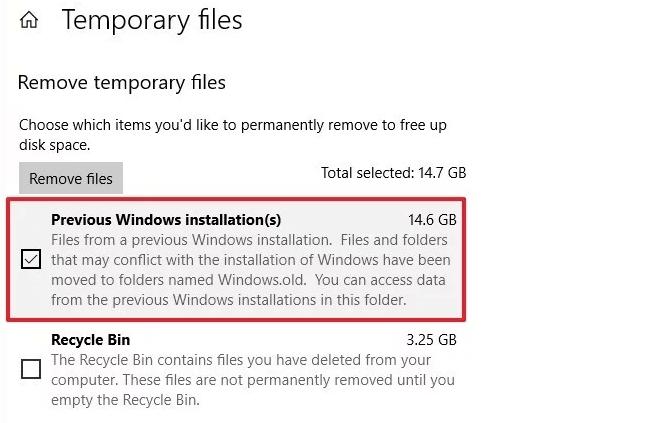 Remove previous Windows installation