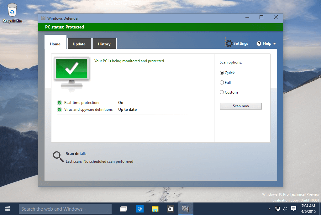 how to make your computer faster by closing Windows defender